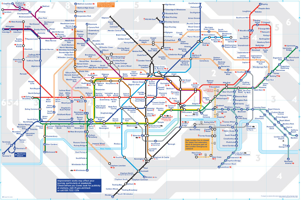 Ghaydaa Color Coding In London Tube - Map color code
