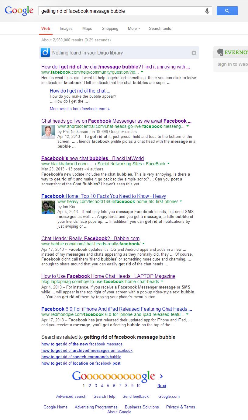 Facebook Chat Bubble